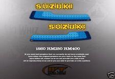 VINTAGE LIKE NOS SUZUKI 1980 RM250 RM400 TANK DECALS