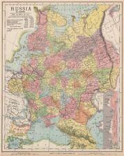 Rusia Ucrania. Europa Oriental. Belarús Baltics Finlandia Georgia. Letts 1889 Mapa