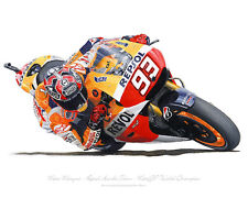 Marc Marquez - Honda MotoGP Team - Motorcycle Racing Print Artwork by Steve Dunn