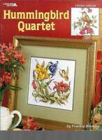 Hummingbird Quartet in Cross Stitch Leisure Arts 3459 Frankie Buckley