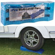 2 x Multi Leveller Wheel Tyre Saver Stop Ramp Raiser Trailer Motorhome Caravan