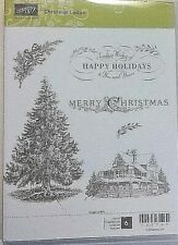 Stampin Up  Merry Christmas Lodge GORGEOUS Winter  Traditional Holiday HUGE TREE