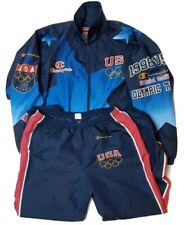 Vintage Champion 1996 USA Olympic Team Replica Tracksuit Jacket And Pants Sz Med