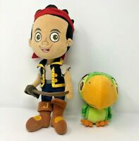 Disney Store Jake And The Neverland Pirate Doll And Skully Parrot Bird Plush