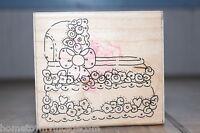It's a Girl Bassinet 6021 Baby JRL Design USA Wood & Foam Rubber Stamp