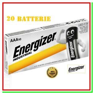 pile energizer industrial aaa batterie mini stilo alcaline pila batteria x20