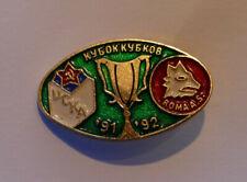 Vintage CSKA Moscow vs Roma European Cup 1991/92 Season Pin Badge