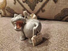 "Simson Giftware - Hippo Hippopotamus Resin Figurine - Cute - "" I'M Sorry"""