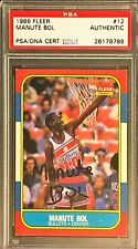 1986 Fleer Signed Autograph Manute Bol #12 PSA DNA New Red Label