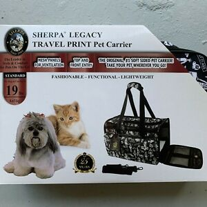 Sherpa Legacy Travel Print Pet Carrier 19lbs