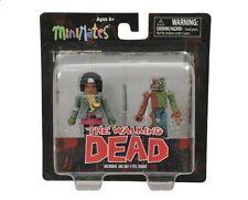 The Walking Dead Minimates de los fanáticos Michonne & Tuerto Zombie Nuevo Mini Figura