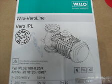 Wilo Veroline Pump IPL32 / 160-0 , 25/4 Serial Number 50164120/0003