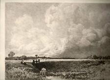 gravure eau-forte de et par Th. Chauvel, Dans le Pays de Caux, 1880 , l'Art