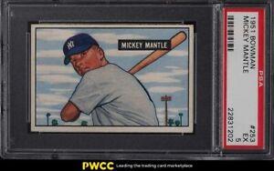 1951 Bowman Mickey Mantle ROOKIE RC #253 PSA 5 EX