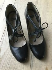 Bertie Black Lace Up Shoes Size 40