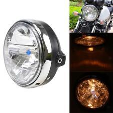 Moto Chrome Halogène Phare Lampe pour Honda CB400 CB500 CB1300 Noir