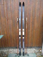 "New listing Ready To Use Cross Country 79"" Karhu 203 Cm Skis Metal Edges + Waxless + Poles"