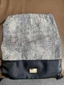 Lovely girls River Island Faux Leather animal Print Gym Swim Backpack Bag