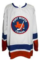 Any Name Number Size Fort Worth Texans Custom Retro Hockey Jersey White