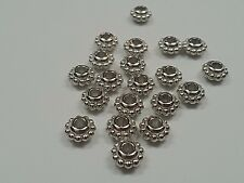 CCB Acrylic Flower Beads, Antique Silver Color, about 8.5x5mm, hole: 3mm Qty 20