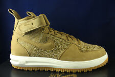 NIKE LUNAR FORCE 1 WORKBOOT DUCKBOOT WHEAT FLAX GOLDEN BEIGE 855984 200 SZ 10