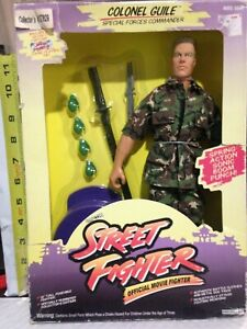 Street Fighter Colonel Guile; Special Forces Commander 1993 GI Joe Hasbro In Box