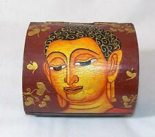 FAIR TRADE HIPPY BOHO  WOODEN BUHDDA JEWELLERY BOX  / CHEST FROM THAILAND