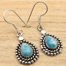 Silver Plated Simulated Larimar Earrings Free Shipping on Additional Items!