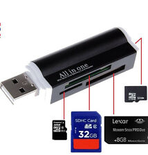 Reader-USB Compact Flash Memory Stick Card Reader Adapter for Micro SD MMC SDHC
