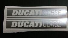 Ducati Corse Stencil Stripe vinyl cut sticker / decal pair 360mm x 61mm Metalics
