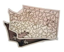 Washington State Wooden Jigsaw Puzzle. Slide open lid box for storing pieces