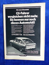 Citroen GS 1220 Break - Werbeanzeige Reklame Advertisement 1973 __ (720
