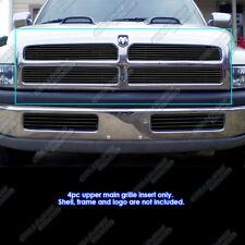 Fits 1994-2001 Dodge Ram regular model Black Billet Grille Grill Insert