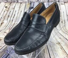 Men's Santoni Black Leather Loafers Slip On's Shoes Size 11.5 Made In Italy