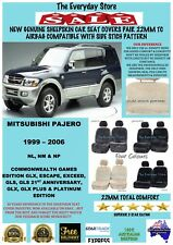 Mitsubishi Pajero 99-06 Genuine Sheepskin Car Seat Covers Pr 22MM Airbag Safe