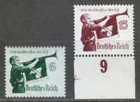 Germany 1935 MNH Mi 584y-585x Sc 463-464 Hitler Youth Meeting.Y gum horizontal**