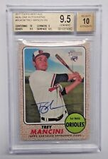 TREY MANCINI 2017 TOPPS HERITAGE RC REAL ONE AUTO BGS 9.5 GEM MINT ORIOLES
