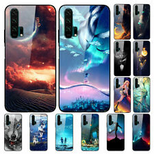 For Huawei Honor 20S 20i 10 9 Lite Painted Tempered Glass Hard Back Case Cover