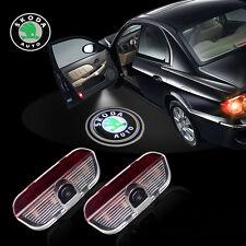 2 Skoda Superb Laser Logo Auto Einstieg Höflichkeit Pojektor Licht für Superb
