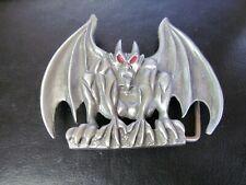 Vintage Pewter Gargoyle or Demon Imp Belt Buckle