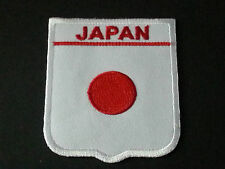 BACKPACKERS NATIONAL COUNTRY SHIELD FLAG SEW/IRON ON PATCH:- JAPAN