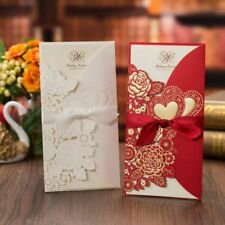 Invitation Cards Envelope With Ribbon Love Folding Wedding Type Festival Styles
