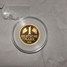 Goldmünze GOLDMARK 1 DM Gold 2001 Deutsche Bundesbank A (Berlin)