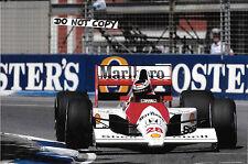 9x6 fotografia, Gerhard Berger McLaren-HONDA MP4/5B AUSTRALIAN GP Adelaide 1990