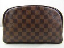 US seller Authentic LOUIS VUITTON DAMIER TROUSSE TOILETTE POUCH BAG Good LV