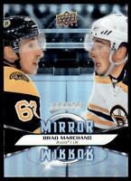 2020-21 UD MVP Mirror Mirror Variation #MM-9 Brad Marchand - Boston Bruins