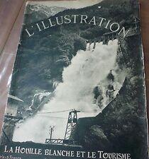 Revue L' ILLUSTRATION 1925, la houille blanche…