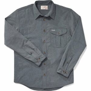 Filson Right Handed Shooting Shirt Carbon Blue, Men's XS MSRP $110