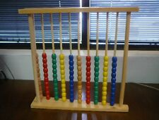 Kids Preschool Home Montessori Abacus Frame Toy for Math Learning Counting