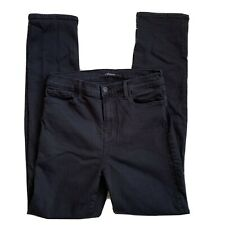 J Brand High Rise Maria Straight Jeans in Seriously Black Size 29